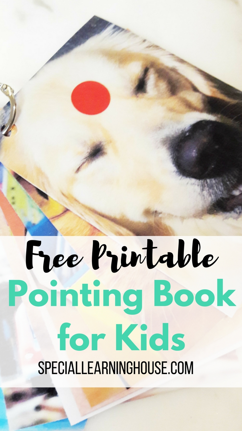 Free Printable Pointing Book for Kids Cover Image