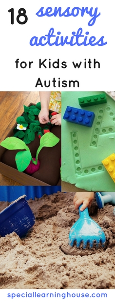 Sensory activities for kids with autism are important to help regulate the sensory system. They are also fun and can promote increase learning, communication and interaction. | speciallearninghouse.com