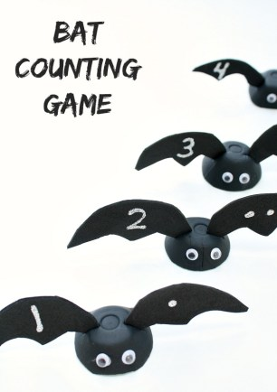 Prepare a Healthier Autism-Friendly Halloween. Bat Counting Game. | speciallearninghouse.com