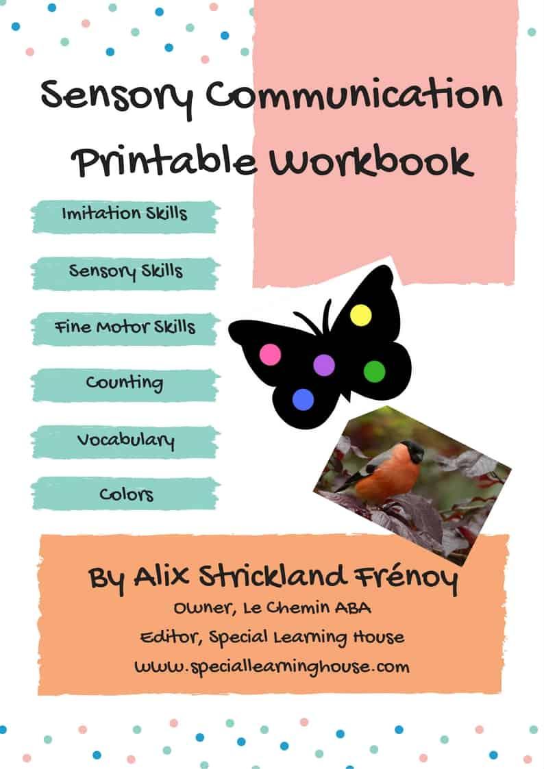 Sensory Communication Printable Workbook Cover