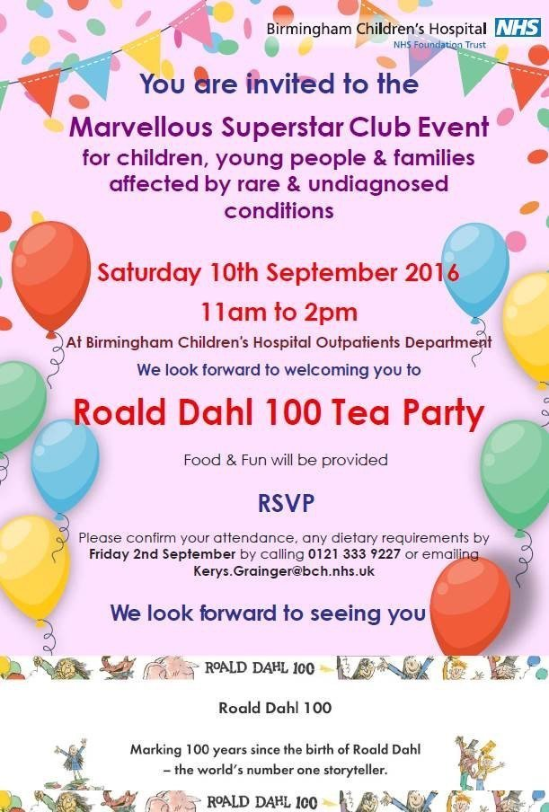 Showcasing Rare Diseases and Roald Dahl's 100th birthday!