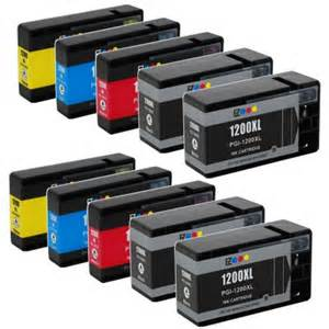 Canon PGI 1200XL 10-Pack compatible ink for Maxify MB2020, MB2030 4 Black, 2 Cyan, 2 Yellow, 2 Magenta