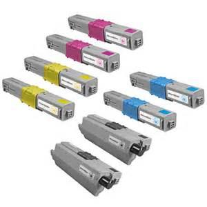 okidata c330 8 pack c17 3000 page toner cartridges with 2 each black, cyan, yellow magenta