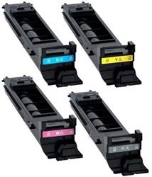 New Compatible 4-Pack toner combo for Konica Minolta Bizhub C20 color printer, black, cyan, magenta, yellow