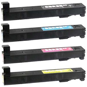 HP 827a Compatible 4-Pack toner set for the M880, M880z, M880z+ NFC series, black, cyan, magenta, yellow