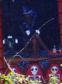 Depiction of Baron Samedi, a bisexual lwa.
