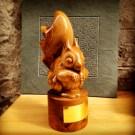 Carved squirrel trophy for Crown Estate Scottish Finest Woods Award