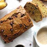 Quinoa Flour Chocolate Chip Banana Bread (v, gf, df)
