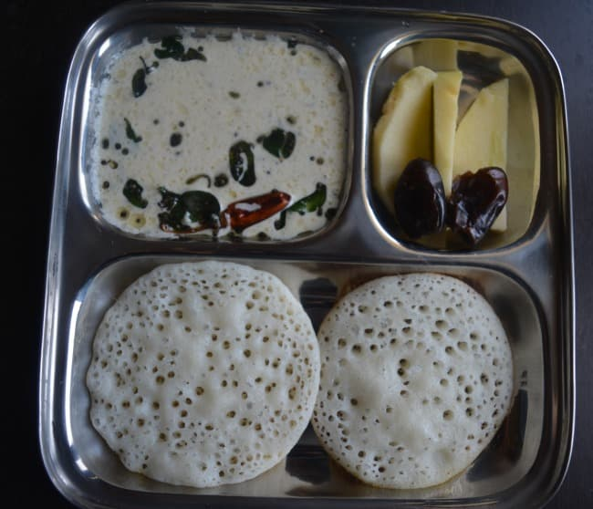 Set Dosa and pottukadalai chutney - Kids Breakfast Menu