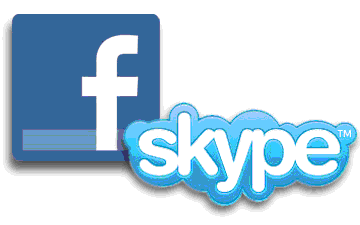 facebook skype logos Now Call Your Facebook Friends From Skype