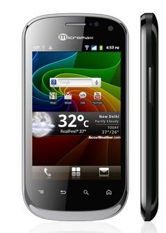 micromax a75 Top 15 ANDROID SMARTPHONES for 2012   Price Range Rs.5000 to 40,000