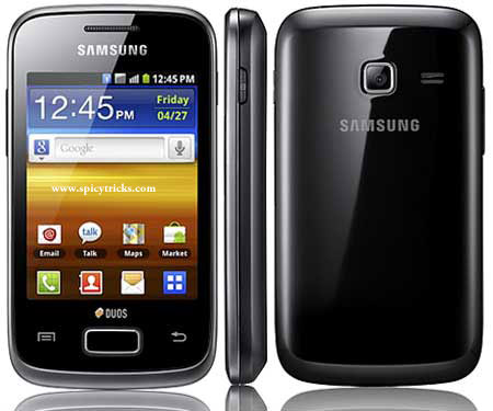 Samsung Galaxy Y Duos Top 15 ANDROID SMARTPHONES for 2012   Price Range Rs.5000 to 40,000
