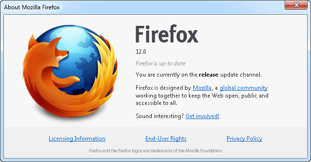 firefox12 Firefox 12.0 Released, Download Now