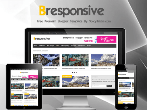 bresponsive free Responisve Blogger Template Top 10 Beautiful Adsense Optimized Blogger Templates for April 2013