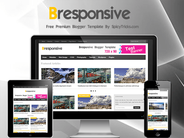 B-responsive Blogger Template