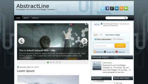 abstractline blogger template Top 10 Beautiful Adsense Optimized Blogger Templates for April 2013