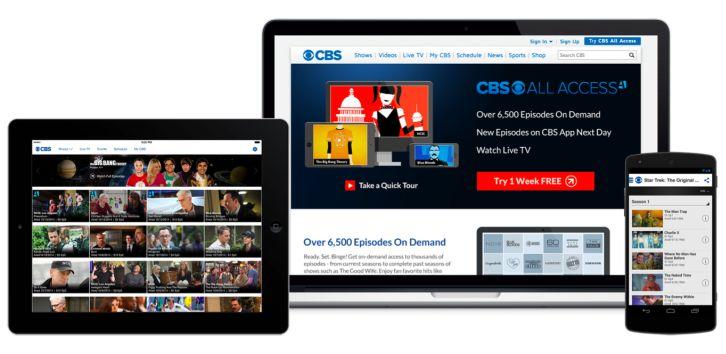 cbs all access CBS é o primeiro canal aberto dos EUA a oferecer o serviço de TV via internet