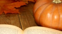 Book and pumpkin, photo by Torange