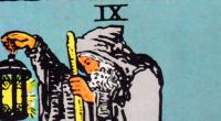 Detail from the Hermit, Rider-Waite-Smith Tarot