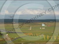The modern Kirkwall airport