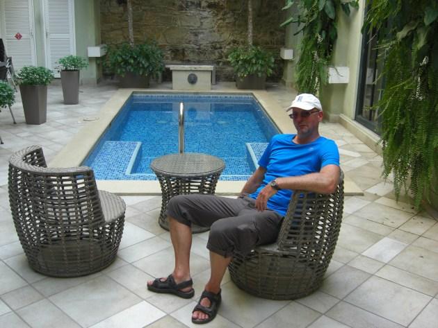Steve by pool