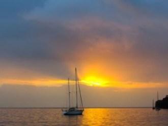 Sunset in Portobelo Harbour