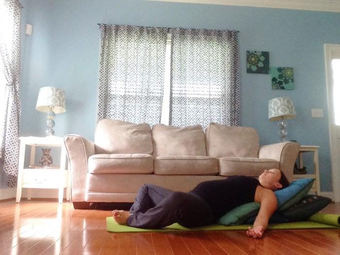 Reclining Bound Angle Pose, Supta Baddha Konasana | Best Yoga Poses for the Second Trimester | SpoiledYogi.com
