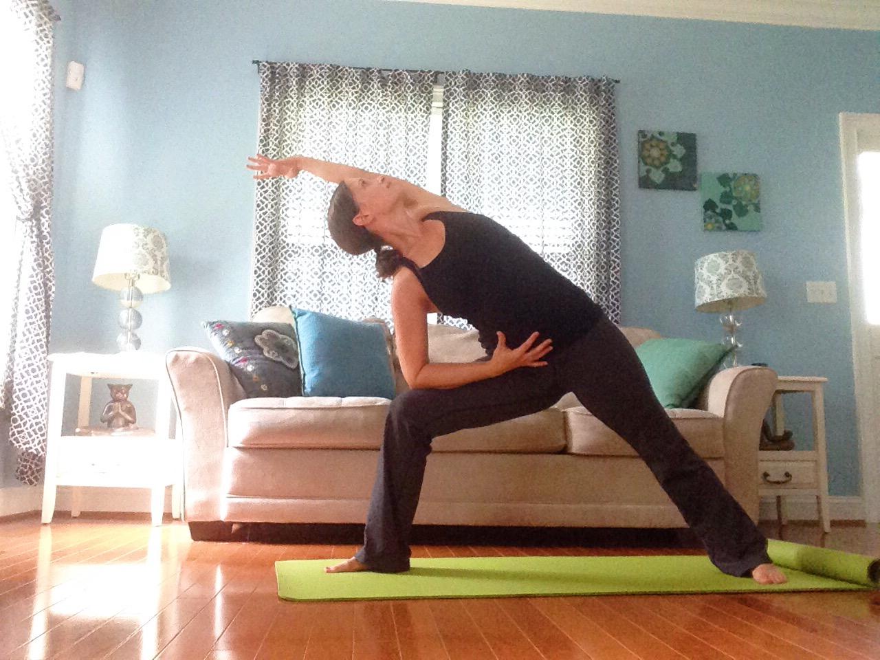 Side Angle Pose | Best Yoga Poses for the Second Trimester | SpoiledYogi.com