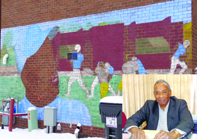 The Jimmy Lee Recreation Center features both a plaque and a mural in his honor.  Photos by Charles Hallman