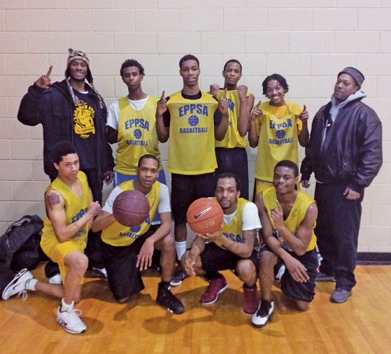 Photo caption: Top row, (l-r) Coach Tally Washington, Mohamad Yusuf (17), Dorian Butler (18), Davarius Wright (19), Marcus Wilson (16). Bottom row (l-r) Edrise Johnson (17), Antonio Pettis (19), Darrell Moore (19), Mercell Johnson (18), and Coach Laverne Turner. Photo by Jamal Denman