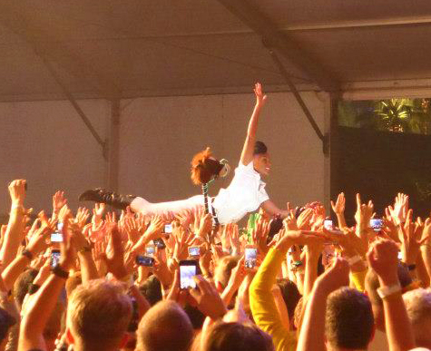 Janelle Monae at the 2013 Coachella Music Festival. Photo by Amy Buchanan