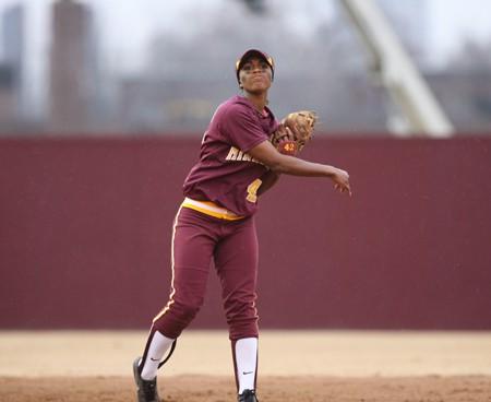 Tyler Walker at shortstop Photo courtesy of U of M
