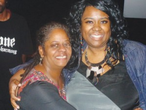 Natalie Morrow (at right) with local filmmaker  Brenda Bell Brown