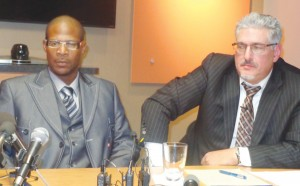 (l-r) Walter Franklin with Attorney Michael Padden Photo by Charles Hallman