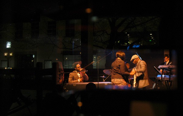 Dwele invited a couple onstage during his performance. Photos by Jamal Denman