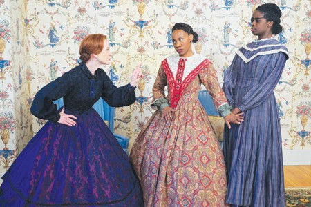 Shà Cage (middle) plays Elizabeth Hobbs Keckly in the Park Square Theatre production of Mary T. & Lizzy K. Photo courtesy of Park Square Theatre