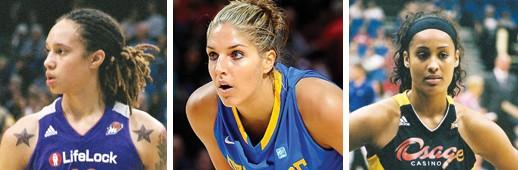 "The WNBA's ""3 To See"" (l-r) Brittany Griner, Elena Della Donne and Skylar Diggins    Photos by Sophia Hantzes"