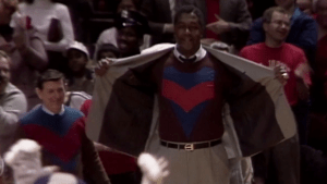 Legendary former Georgetown coach John Thompson in a scene from 30 for 30