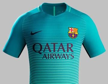 La nuova terza maglia Nike del Barcelona FC