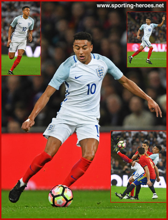 Jesse LINGARD   International Caps    England Jesse LINGARD