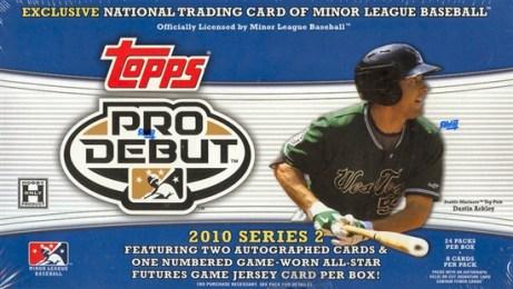 2010 Topps Pro Debut Series 2 Hobby Box