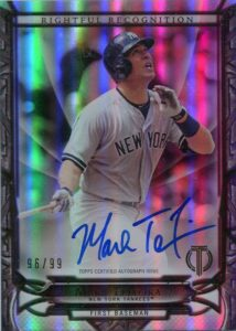 2016 Topps Tribute Rightful Recognition Mark Teizeira Autograph Card