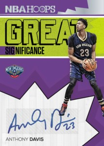2016-17 NBA Hoops Anthony Davis Great Significance Autograph Car
