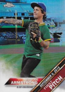 2016 Topps Chrome First Pitch Joe Armstrong Card