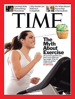 Time mag cover on weight loss and exericse