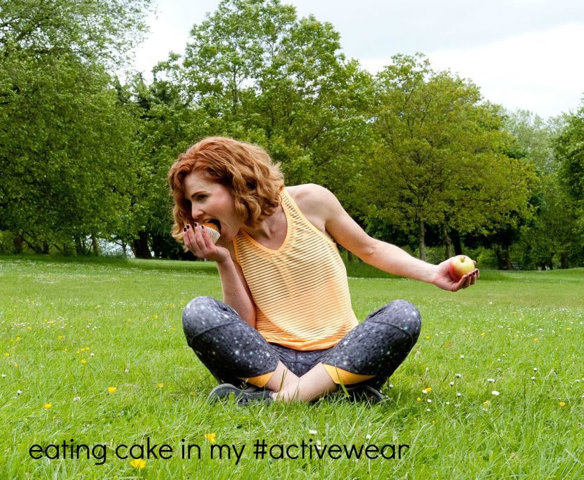 eating cake in my #activewear