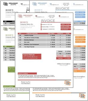 Invoice Template Everest All Colors
