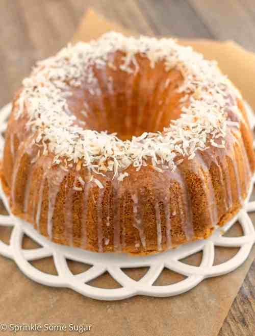 Medium Of Coconut Pound Cake