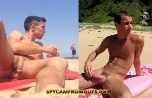 family nude beach erection