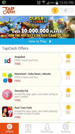 earn real money from tapcash